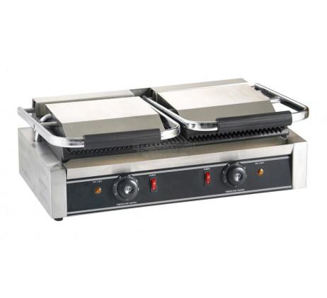 Grill Toaster panini rainuré nervuré Double