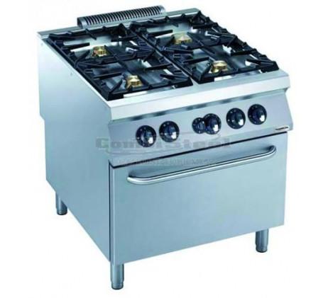 Cuisinière a gaz 4 feux 4x10 KW avec four SERIE...