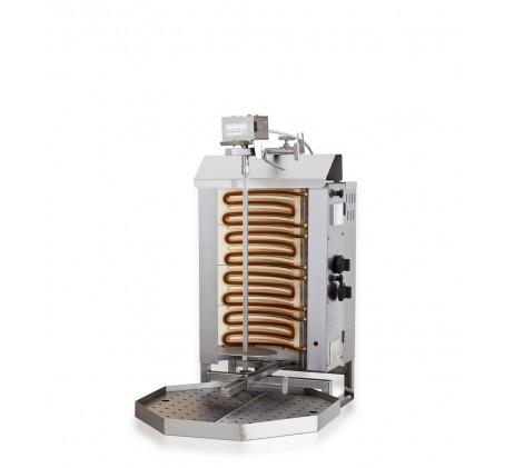 Gyros gril electrique moteur au-dessus 4 zones de chauffage