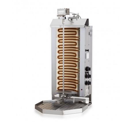 Gyros gril electrique moteur au-dessus 6 zones de chauffage