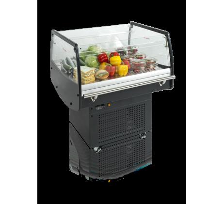 Réfrigérateur noir pour achats impulsifs