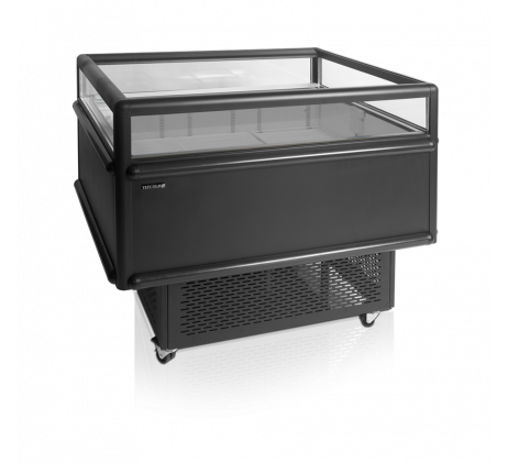 Réfrigérateur noir pour achats impulsifs/Vitrine réfrigérée 1225mm