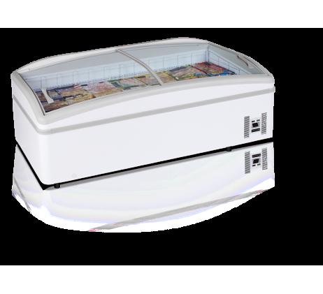 Réfrigérateur / Congélateur de supermarché 430 L blanc  /Bahut
