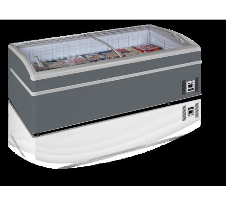 Réfrigérateur / Congélateur de supermarché 430 L gris  /Bahut
