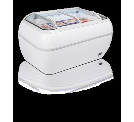 Réfrigérateur /Congélateur de supermarché 334L  BLANC / BAHUT