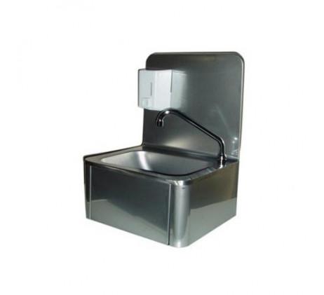 Lave-mains avec commande à genoux