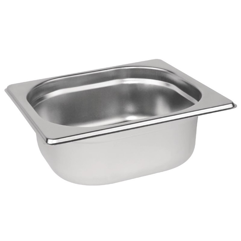 Bacs inox Gastronorme GN 1/6 - P/65mm/100mm/150mm/200mm