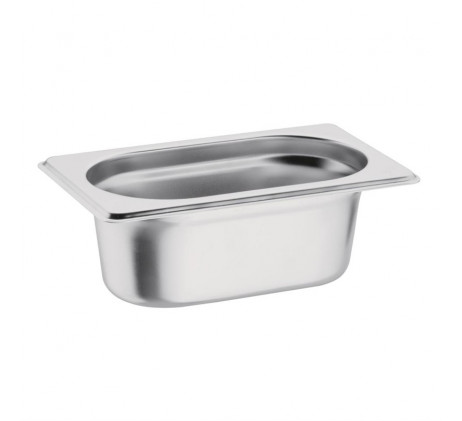 Bacs inox Gastronorme GN 1/9 - P/65mm/100mm/150mm