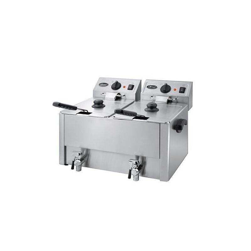 Friteuse électrique 8 + 8 litres / 6,5 kW